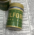 One - Vintage Ilford 35mm Green Metal Film Canister HP3 Film