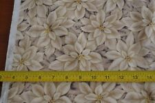 By 1/2 Yd, Cream Poinsettia Quilting, RJR/Beyer/Holiday Treasures, 0778, M8224