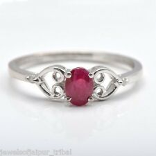 925 Sterling Silver Ruby Gemstone Diamond Gorgeous Ring Women Jewelry UK