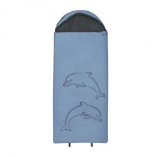 10T Dolphin Kinderschlafsack 180x75 cm XXL Deckenschlafsack Delfin Schlafsack
