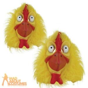Adults Full Head Chicken Mask Easter Animal Adults Fancy Dress Costume Accessory