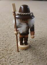 "Seiffener Small 4"" Tall Mini Nutcracker Handmade in Germany"