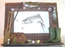 Cadre photo pêche à la truite