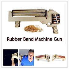 2016 NEW RBMG power shoot rubber band machine gun DIY assembled wooden toy gun