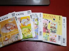 McCalls Pattern Baby Hats Nursery Diaper Covers Booties Bath Time Uncut