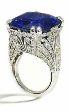 Blue Cushion Vintage Style Handmade White Round Studded CZ Fine Ring for Women
