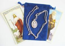 St. Benedict Relic Saint Medal with 24 Inch Necklace