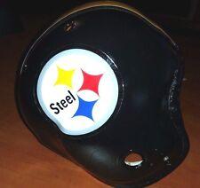 """Pittsburgh Steelers """"STEEL"""" LOGO Vintage MacGregor Football Helmet"""