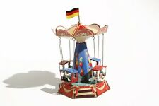 + Blechspielzeug   KIRMES-KARUSSELL mit GONDELN °° Made in Germany