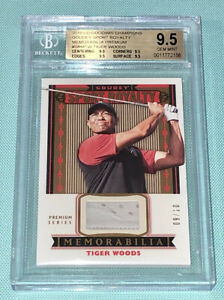 Tiger Woods 2019 Upper Deck UD Goodwin Goudey Sport Royalty Patch #/10 BGS 9.5