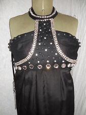 DESIGNER RACHEL GILBERT BLACK silk 'AMBER' S2 Dress SM RRP £600 Mini Knee Length