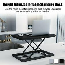Adjustable Height Standing Desk Laptop Monitor Riser Home Office Tabletop