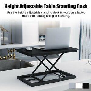 Adjustable Height Standing Desk Laptop Monitor Riser Home Office Tabletop   US1