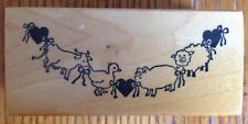 PSX Country Farm Animals Rubber Stamp F-468 Duck Pig Sheep Cow Chicken