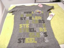 PITTSBURGH  LOVE  STEELERS  T-SHIRT GIRLS  10 - 12  LARGE  NEW  TEAM NFL LOOK