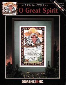 Linda K Powell O Great Spirit Native American Cross Stitch Needlepoint Book #267
