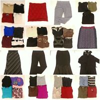 Huge Lot Womens Small Winter Fall Fashion Clothes Pants Sweaters Shirts Skirts