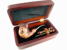 """Fashion SET Carved Tobacco Pipe """"DRAGON"""" Smoking Exclusive Wooden Pipes + BOX"""