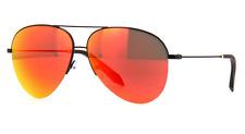 VICTORIA BECKHAM Classic Aviator Sunglasses VBS90 C4 Black Sunset Orange