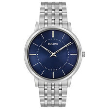 Bulova Men's 96A188 Classic Collection Quartz Blue Dial 40mm Bracelet Watch