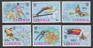Liberia - 1976, Winter Olympische Spiele Set - Cto - Sg 1260/5 (G)