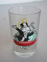 Vintage Colorful McDonald's Monopoly Glass  - Uncle Pennybags - Unused