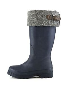 Cole Haan Chatham Woman's India Ink Rubber Rainboots 8492 Size 6 M