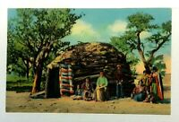 New Mexico Navajo Indians On Reservation Woven Rugs Linen Vintage Postcards
