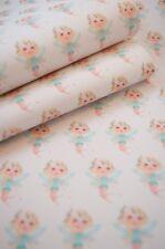 "Garden Fairy Aqua A4 Leatherette Fabric Sheet 8 x 11"" Hair bow Crafts Vinyl DIY"