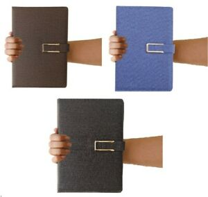A5 Hardback Fabric Lined Notebook Notepad Notes Journal Diary School Office Gift