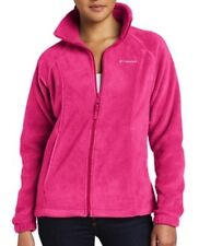 COLUMBIA Benton Springs Full Zip Fleece Jacket Women S (Small) Deep Blush NWT