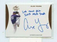 ALEX YOUNG 2015 Leaf Trinity Baseball INSCRIPTIONS Rookie Auto Autograph A-AY1