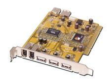 SIIG 7-Port FireWire / USB 2.0 PCI Host Card V3.0, Part # JVM351200174 JU-NN0012