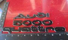Audi Quattro 5000 1978-1983 emblem nameplate set oem