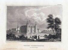 Schloss FRIEDERICHSBURG-St. nach C.Reiss um 1840-10,0x15,0 cm