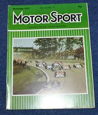 Motor Sport November 1977 Vauxhall Chevette HS2300, Ferrari 250,Renault