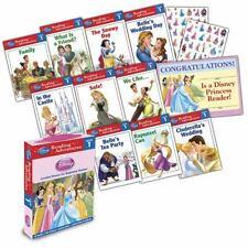 Disney Princess  Reading Adventures 10 book set 86 stickers certificate level 1