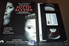 [1398] Sotto accusa (1988) VHS rara Jodie Foster McGillis