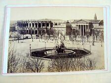 OLD ALBUMEN/CABINET CARD: NIMES~ESPLANADE~ANIMATED~ca 1860/70~PHOTO: F. FESCOURT