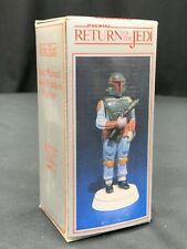 1983 Sigma Star Wars Return of the Jedi Hand Painted Figurine - Boba Fett In Box