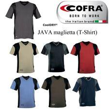 T-Shirt da lavoro Cofra Java elasticizzata - Maglietta estiva traspirante cotone