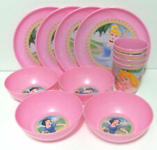 Disney Princess 4 Plate, Bowl & Cup Set Reusable Partyware Party Supplies