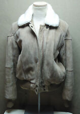 1990'S VINTAGE WILSON SUEDE & LEATHER WOMENS COAT SIZE 6