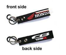 Honda CB125R CB 125R Tag Keychian Racing Biker Motorcycle Embroidered Key Chain