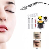 Microblading Permanent 3D Makeup Augenbrauen Tattoo Nadel Stift Pigment Kit OOC