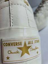 RARE CONVERSE CHUCK TAYLOR ONE STAR OX WHITE LEATHER PLATFORM LIFT - UK SIZE 8