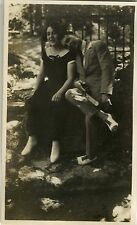 PHOTO ANCIENNE - VINTAGE SNAPSHOT - COUPLE AMOUREUX MODE - FASHION LOVERS