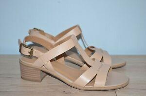 Franco Sarto Oriana  Block Heel Sandal Beige 7.5 NEW