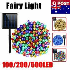 100 200 500 LED Solar Lichterkette Weihnachtsbaumkette Außenbeleuchtung Garten
