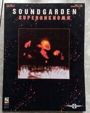 1994 Soundgarden Superunknown Guitar Tab book